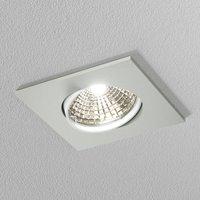 Discrete white ceiling recessed light  6 8 cm