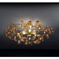Amber coloured ceiling light Amber 60 cm diameter
