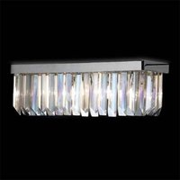 Crystal wall light in chrome