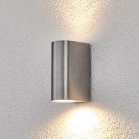 Image of 2-flammige Aluminium-Außenwandlampe Idris