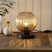 Zucca table lamp  glass lampshade  amber