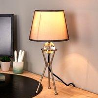 Pivotable grey table lamp Zsa