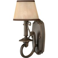 Plymouth Wall Light with Organza Fabric Shade