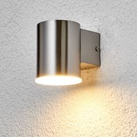 Runde LED-Außenwandleuchte Morena aus Edelstahl