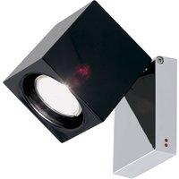 Fabbian Cubetto wall light GU10 chrome black