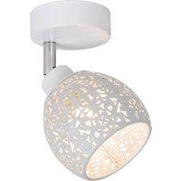 Tahar ceiling spotlight delicate lampshade pattern