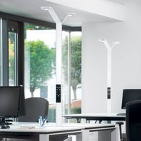 Luctra Floor Twin Radial LED floor lamp white