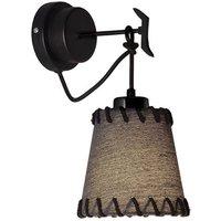 Timor wall light  fabric  black
