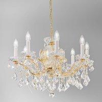 KOLARZ Maria Louise chandelier  24 ct gold 8 bulb