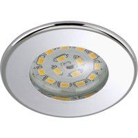 Efficient LED recessed light Nikas IP44  chrome