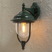Parma outdoor wall light  hanging lantern in green