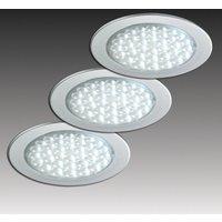 Three R 68 recessed lights  stainless steel look