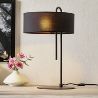 Clip fabric table lamp  black  height 53 cm