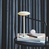 Shade  S1 table lamp rings brass base white Node