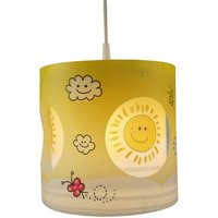 Sunny rotating pendant light for a child s room