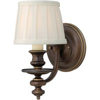 Dunhill fabric wall light with lampshade