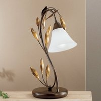 Curved table lamp CAMPANA