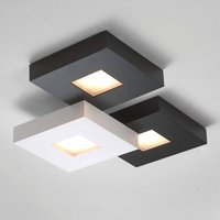 Three bulb LED ceiling lamp Cubus  black and white