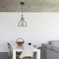 Irving   vintage pendant light  glass