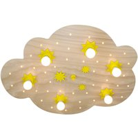 Star Cloud ceiling light  natural beech  80 cm
