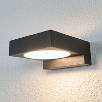 Natalja black LED bathroom wall lamp