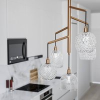By Ryd ns Grace hanging lamp brass clear 5 bulb