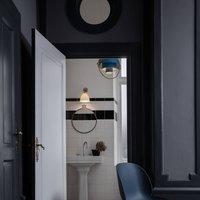GUBI Multi Lite hanging lamp 32 cm brass blue