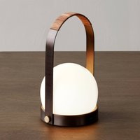 Menu Carrie table lamp rechargeable bronze leather