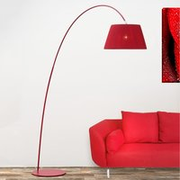 Marion arched floor lamp in red