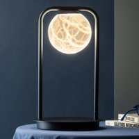 Tribeca LED table lamp with alabaster one bulb