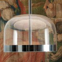 Copper coloured LED hanging light Equatore 23 8 cm