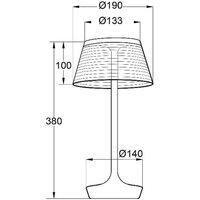 Aluminor La Petite Lampe LED table lamp  red
