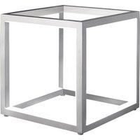 Delux cube shaped LED table lamp  alu  20 cm