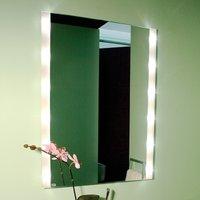 Corner wall mirror BRIGHTLIGHT  illuminated