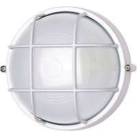 400180 wall light round with grid element  white