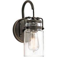 Transparent lampshade   wall lamp Brinley