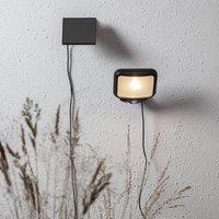LED-Solarlampe Powerspot Sensor eckig schwarz 200