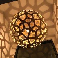david trubridge Coral hanging lamp   60 cm caramel