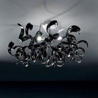 Modern ceiling light ASTRO  3 bulb  black