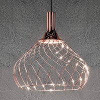 Mongolfier P2 LED hanging light in a cage look
