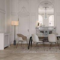 GUBI Gravity floor lamp marbled grey cream