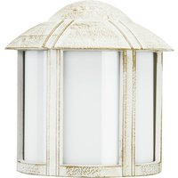 Solid Affra outdoor wall light in white gold