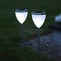 Decorative LED solar lamp Jannik set of 2