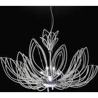 Opulent Girasole hanging light in flower shape