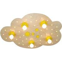 Star Cloud ceiling light  natural beech  75 cm