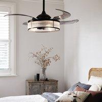 Fanaway Corbelle ceiling fan  light  black