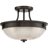 Glass ceiling light Mantle with a bronze finish