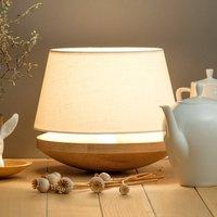 Kjell   table lamp with linen lampshade  cream