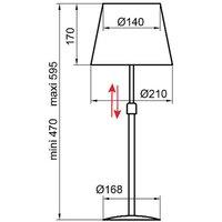 Aluminor Store table lamp  aluminium taupe