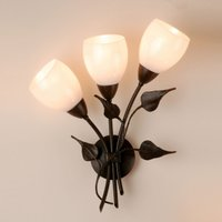 CHALET floral wall light with glass tulips